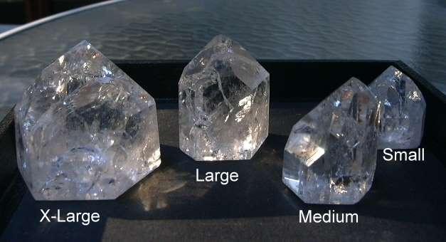 photo of rainbow quartz crystal