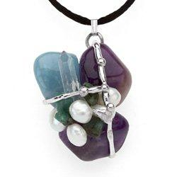 Ask, Believe, Receive Amulet, Hand made gemstone pendant by Seeds of Light