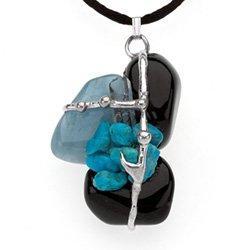 Keep Me Safe Amulet, Hand made gemstone pendant by Seeds of Light