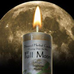 Drawing Down the Full Moon Candle