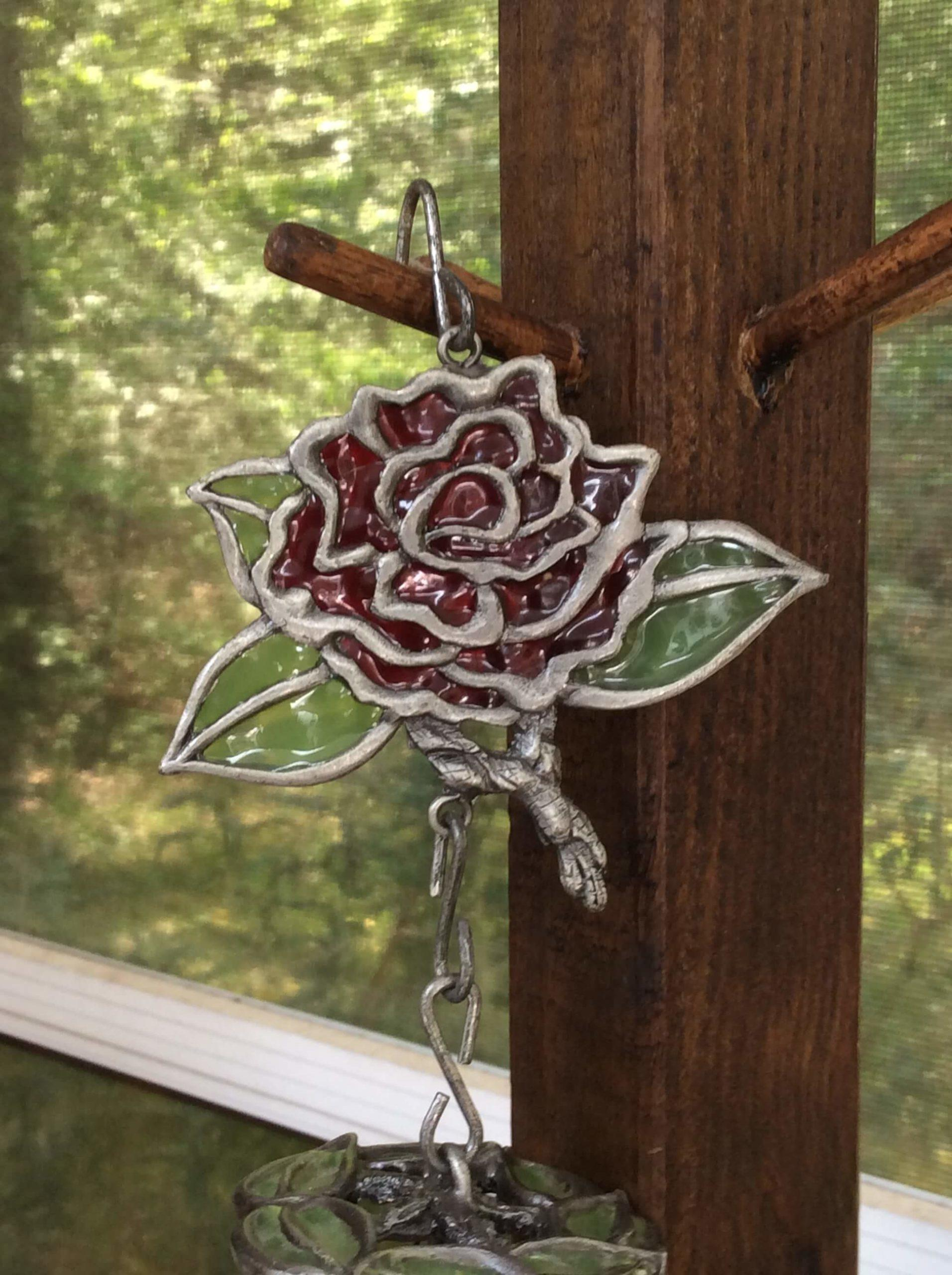 Loving Rose chime close-up
