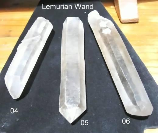 Lemurian Seed Crystal Wands