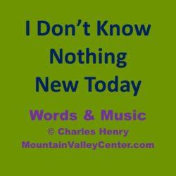 Nothing New Today Music MP3