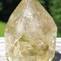 Citrine Rainbow Quartz Crystal Point