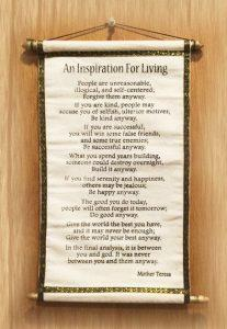 Inspiration for Living Authentic Tibetan Prayer Scroll