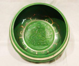 Bottom of Green Tara Singing Bowl