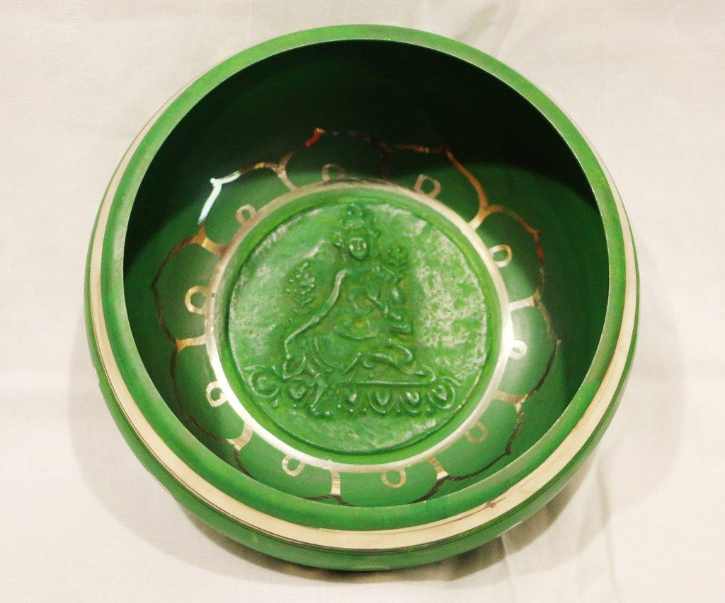 Bottom of Green Tara Singing Bowl