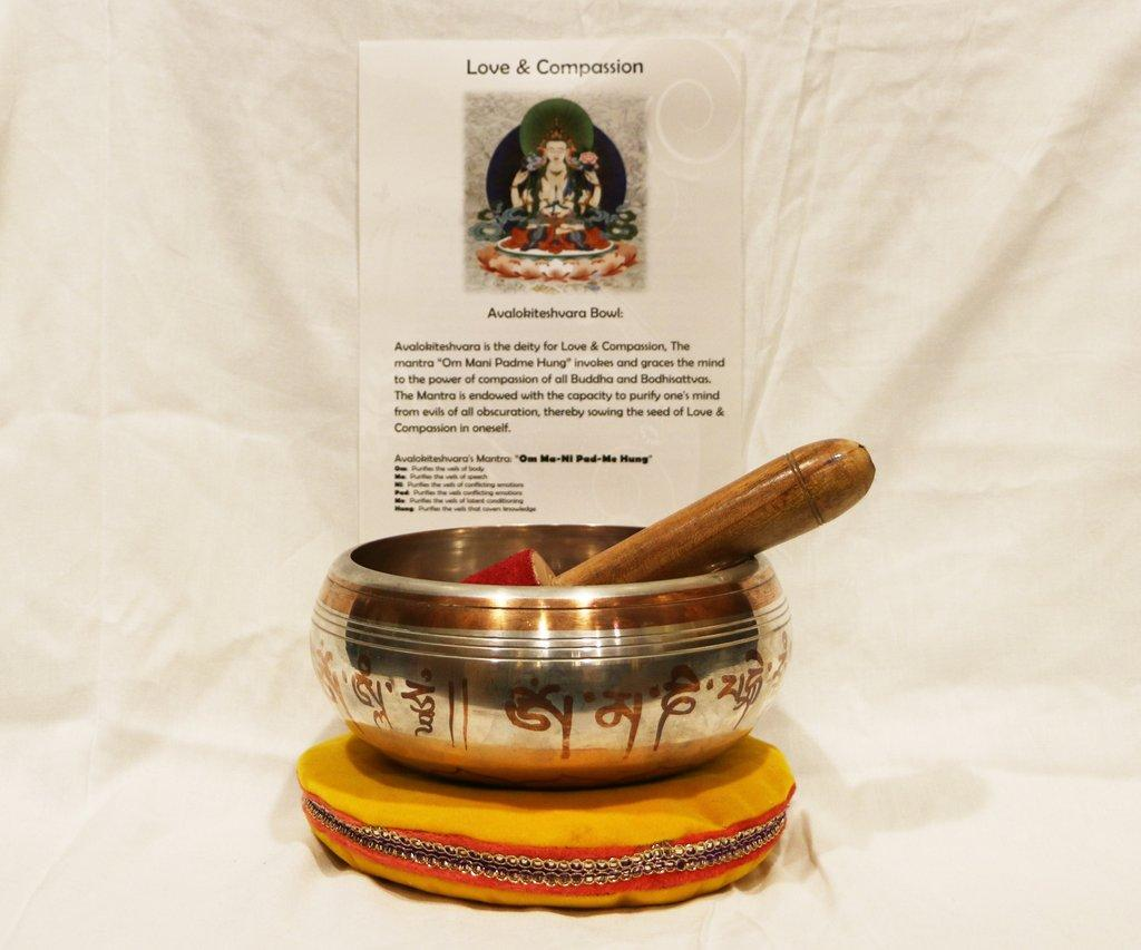 Love and Compassion Authentic Tibetan Singing Bowl
