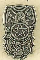Goddess of the Five Elements Pewter pendant