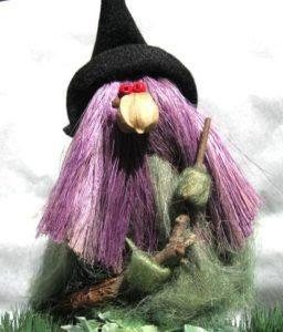 Woodland Witch with Broom