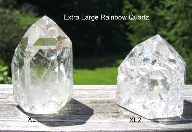 Extrea Large Rainbow Quartz Crystals