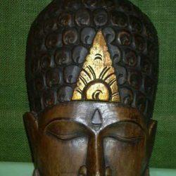 Hand Carved Wood Buddha mask