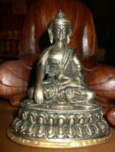 Brass Buddha with Bhumisparsa Mudra