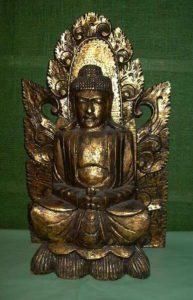 Golden Sitting Buddha statue