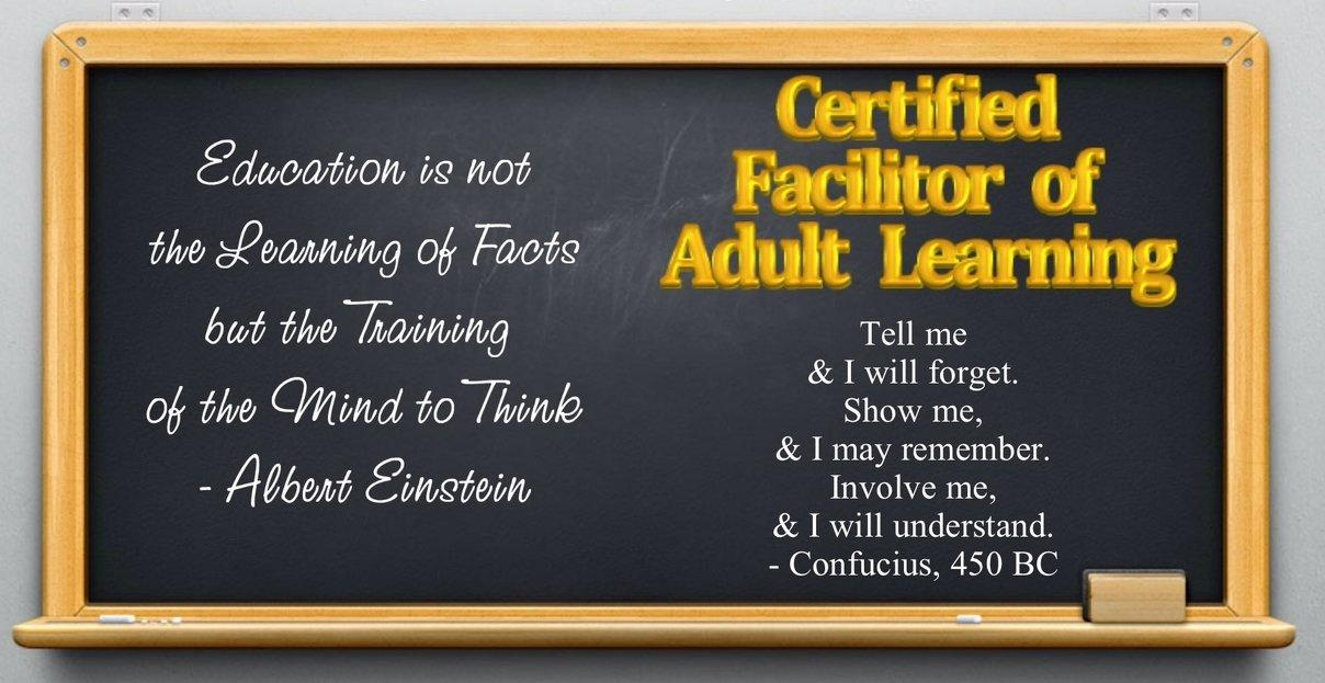 Certified Facilitator of Adult Learning on line course