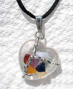 Chakra Heart Amulet Hand made gemstone pendant by Seeds of Light