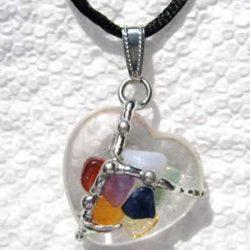 Chakra Heart Amulet Hand made gemstone pendant by Seeds of Light