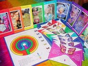 Chakra Labyrinth Cards book and deck
