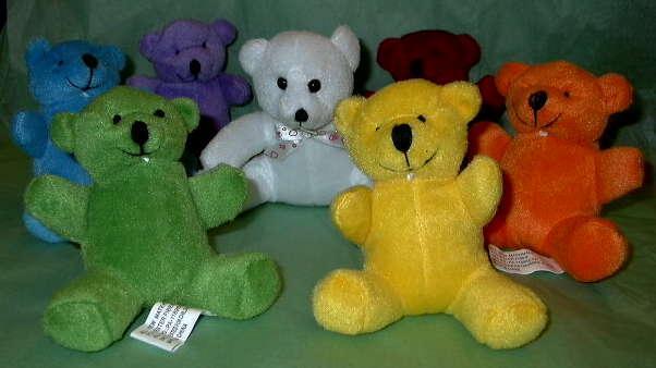Plush Chakra Bears for Gentle Chakra Balancing - great for kids