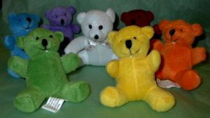 Rainbow Chakra Plush Bears