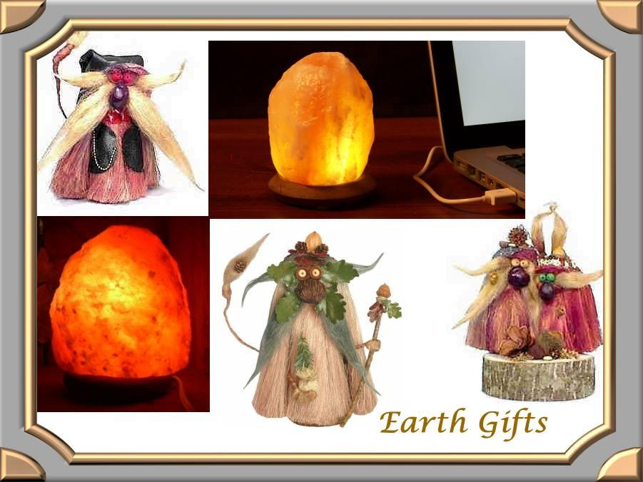 Earth Gifts from Mountain Valley Center.com, Salt Lamps and Trolls