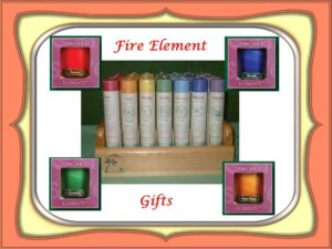 Fire Gifts from Mountain Valley Center.com includnig Chakra and Feng Shui Candles and Coventry Candles