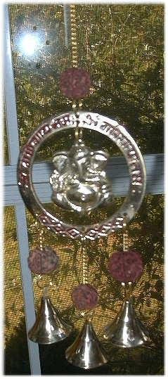 Ganesha Bell Chime with Rudraksha