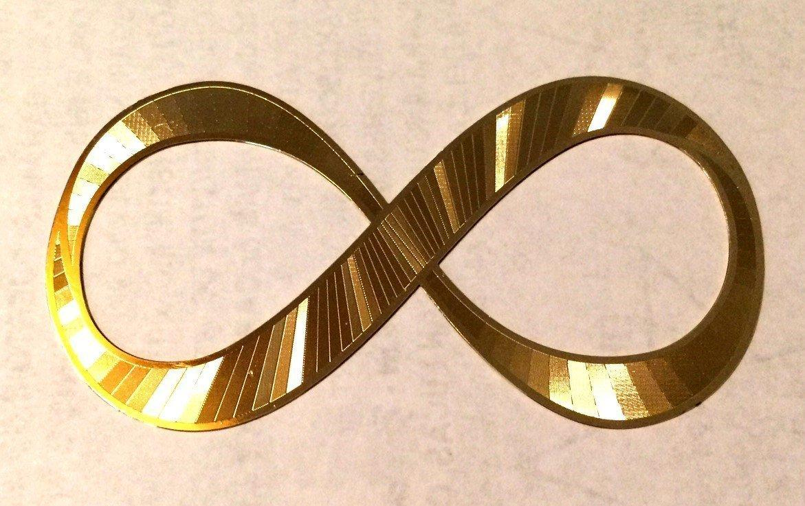 18kt gold plated Infinity Symbol from Sacred Geometry