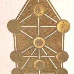 18 kt gold plate Kabbalah Tree Plate