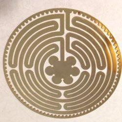 18 kt gold plated Chartres Labyrinth