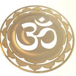 18 kt gold plated Om Symbol