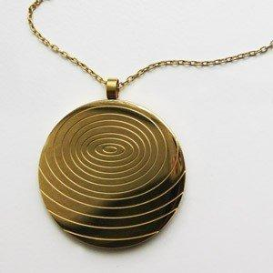18K gold plated Scalar Energy Pendant