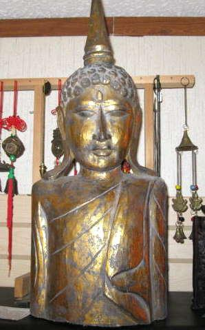 large buddha mask hand carved