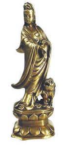 Quan Yin standing, 8 inch