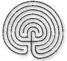 7 Circuit Labyrinth Drawing