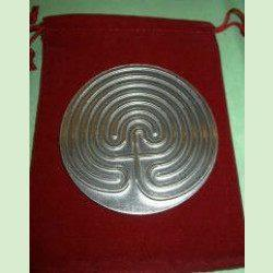 7-Circuit Pewter Labyrinth plate