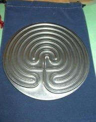 7-Circuit Pewter Labyrinth