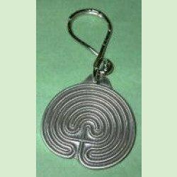 Pewter Labyrinth Keychain