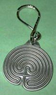 Pewter Labyrinth Keychain