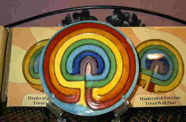 Life Path Labyrinth with plate stand
