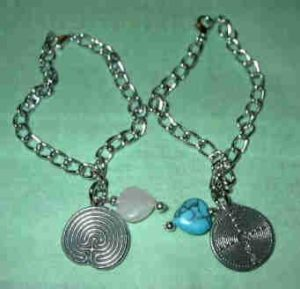 Pewter Labyrinth Bracelet