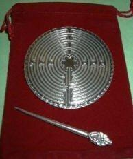 3 in. Chartres Pewter Labyrinth