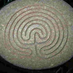 Large natural Stone Labyrinth