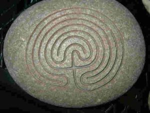 Large natural Stone Labyrinth