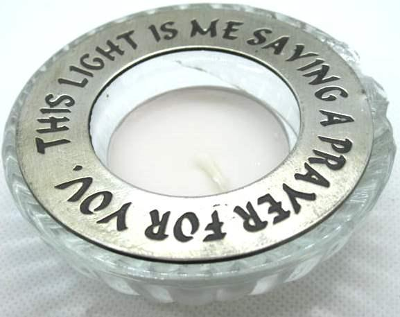 Light Prayers Candle ring