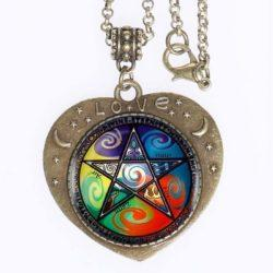 5 Elements Pentagram Love Pendant