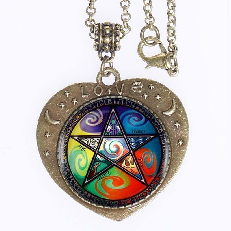 5 Elements Pentagram Love Pendant