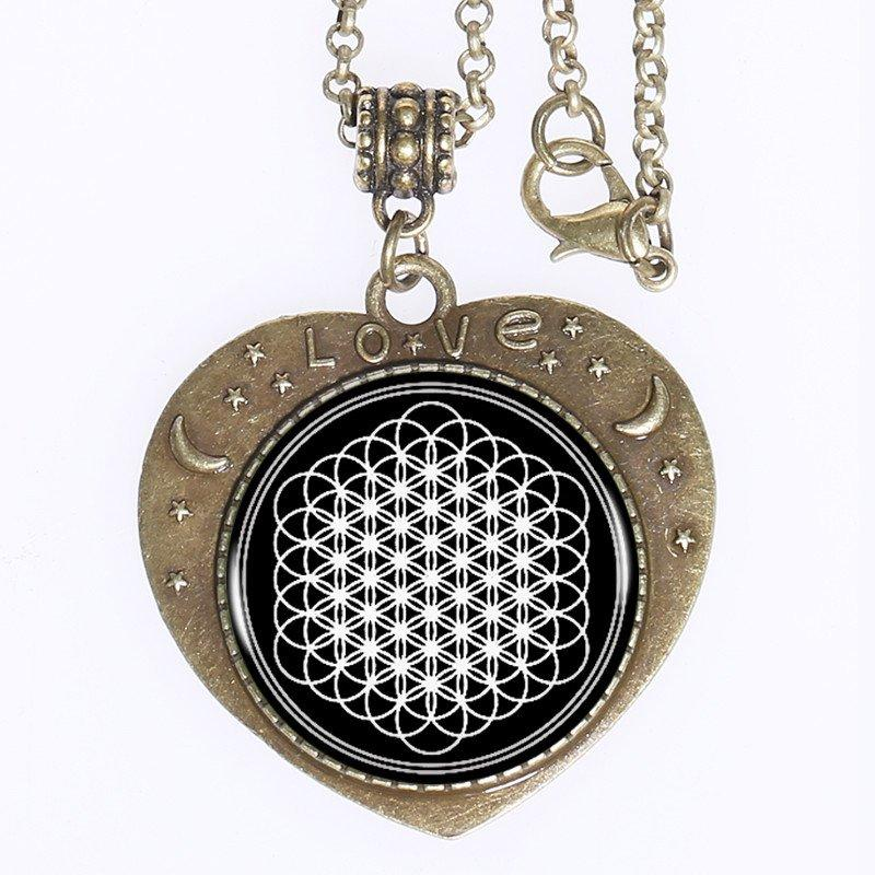 Flower of Life bronzed Love Pendant