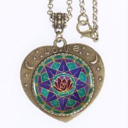 Spiritual Abundance Mandala Love Pendant