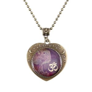 Yoga Tree OM Love Pendant